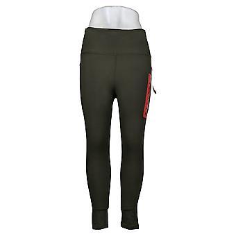 Danskin Leggings Ladies' Super Soft Pull On w/ Pockets Green