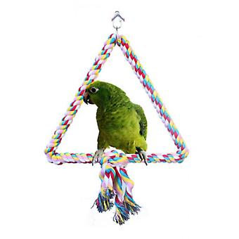 Bird Stand Parrot Swing Toy Color Cotton Rope Xuanfeng Grey Machine Macaw Triangle Stand Bar Toy