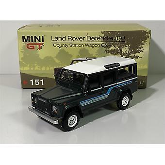 لاند روفر ديفندر 110 1985 مقاطعة عربة غراي RHD 1:64 MiniGT MGT00151R