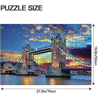 1000 Pieces Jigsaw Puzzles For Adults Puzzles 1000 Piece Jigsaws For Adults Puzzle Adult London Tower Bridge Difficult And Challenge