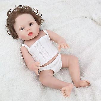 Gjenfødelse Simulering Baby Søt Leketøy Dukke Kan Bade, Baby Modell