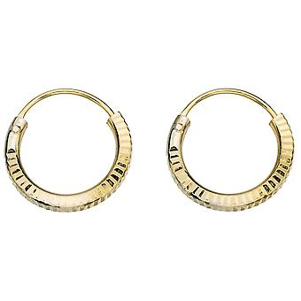 925 Silver Gold Plated Rings Earring