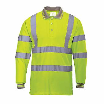 sUw - Hi-Vis Safety Workwear Long Sleeved Polo