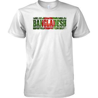 Nazwa efekt flaga kraju Bangladesz Grunge - dzieci T Shirt