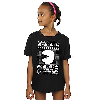 Pacman meisjes Christmas Fair Isle T-Shirt