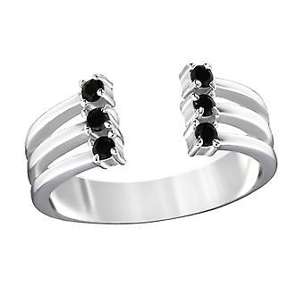 Open - 925 Sterling Silver Jewelled Rings - W32354X