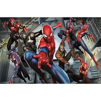 Ultimate homem-aranha - personagens Poster Poster Print