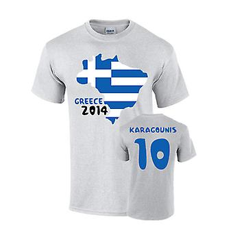 Greece 2014 Country Flag T-shirt (karagounis 10)