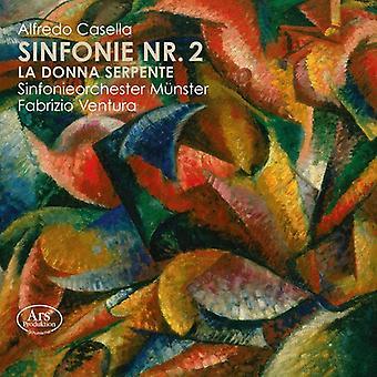 Casella / Sinfonieorchester Munster / Ventura - Symphony 2 / La Donna Serpente Fragments [SACD] USA import