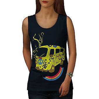 Peace Love 42 Rasta Women NavyTank Top | Wellcoda