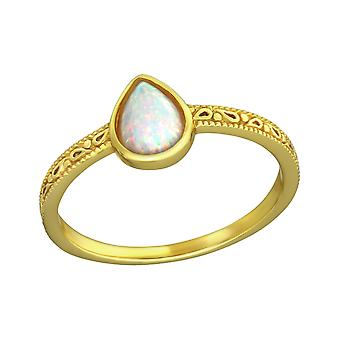 Pear - 925 Sterling Silver Jewelled Rings - W36329X