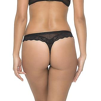 Sapph 1614-132-18-01 Women's Dream Girl Black Lace Panty Thong