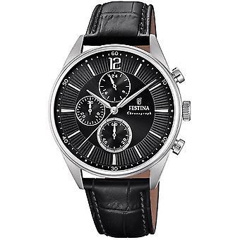 Festina mens watch of timeless chronograph F20286-4