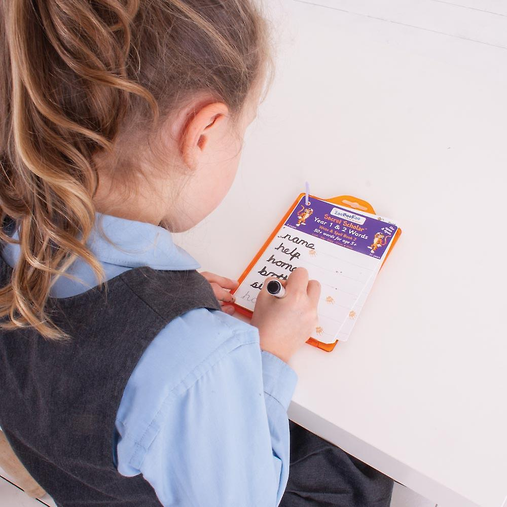 ZooBooKoo Secret Scholars Year 1 and 2 Words Write Spell Learn Play Educational
