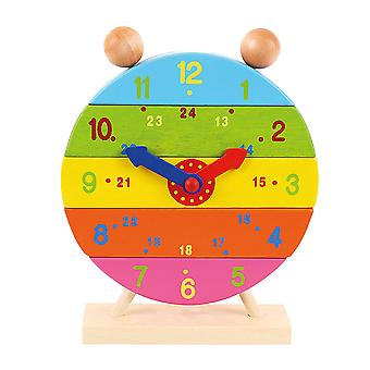 Bigjigs Toys Wooden Stacking Number Clock Educational Learning Toy