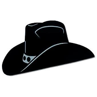 Zwarte folie cowboyhoed silhouet (2 Per pak)