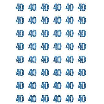 Bursdag glitter blå - 40 bursdag prisme hengende dekorasjon