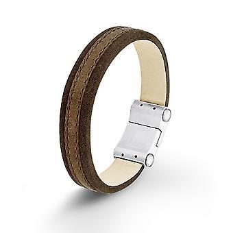 s.Oliver jewel mens leather bracelet stainless steel SO1291/1 - 524025