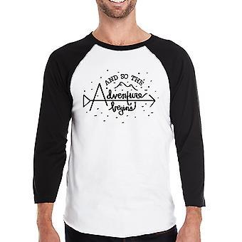 The Adventure Begins honkbal Shirt voor de giften van de graduatie van de grappige van de mannen