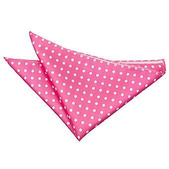 Hot Pink Polka Dot Pocket Square