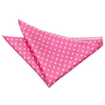 Kuuma vaaleanpunainen Polka Dot Pocket Square