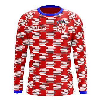 2020-2021 Croatia Long Sleeve Home Concept Football Shirt (Kids)