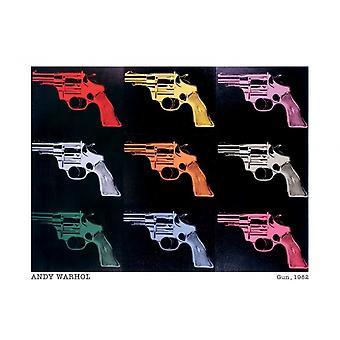 アンディ ・ ウォーホル銃銃 1982年ポスター ポスター印刷