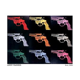 Andy Warhol Guns pistool 1982 Poster Poster afdrukken