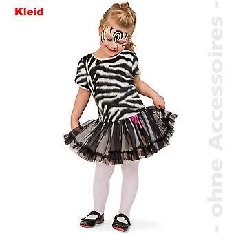 Zebra Kostüm Zebrakleid Tüllkleid Afrika Kinder Wildpferd Kinderkostüm