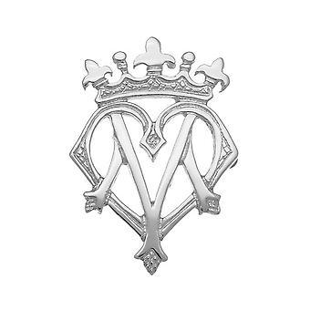 Sterling Silver tradičné luckenbooth ' lásku a lojality ' Design brošňa