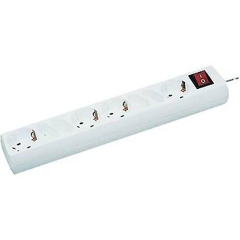 GAO 345 Socket strip (+ switch) 8x White PG connector