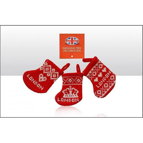Union Jack Wear London Knitted Christmas Stocking Decorations