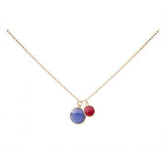Gemshine naisten kaula koru riipus Sapphire Ruby sininen punainen 925 hopea 45 cm