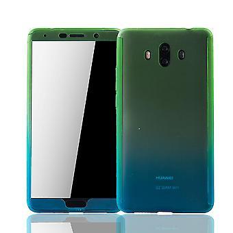 Huawei mate 10 mobilne case-futerał pełne pokrycie zbiornik ochrony szkło zielony / niebieski