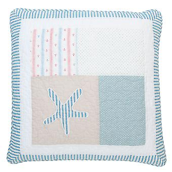 Clayre & EEF Q175. 030 pillowcase Starfish Maritim Quiltkissen shabby 50 x 50 cm