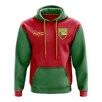 Benin concepto país fútbol con capucha (roja)