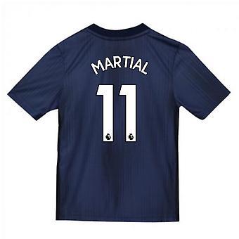2018-2019 Man Utd Adidas dritten Fußballtrikot (Kinder) (Martial 11)