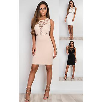 IKRUSH Womens Emmelyn Lace Bodycon Dress