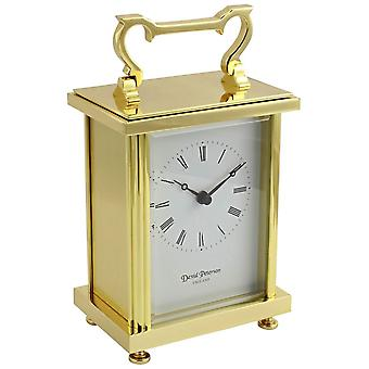 David Peterson piatta ottone Quartz orologio da carrozza - oro