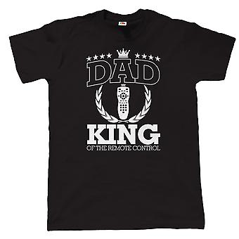 Dad King Of The Remote Control, Mens Funny T Shirt - Gift for Birthday