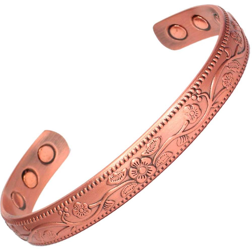 MPS® MAOR Pure Copper Magnetic Bangle with 6 Magnets with Luxury Gift Pouch