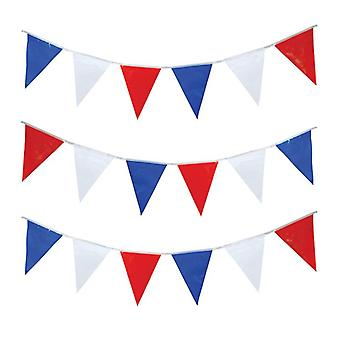 Bnov Triangular Bunting, Red, White And Blue