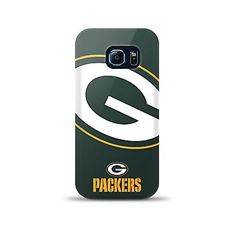 Mizco Sports NFL Oversized Snapback TPU Case for Samsung Galaxy S6 Edge (Greenbay Packers)