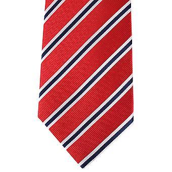 David Van Hagen Regimental Striped Tie - Red/Navy/White