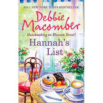 Hannah's lijst door Debbie Macomber - 9780778303794 boek
