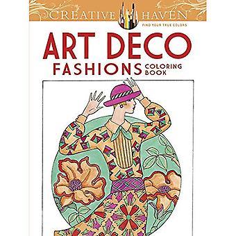 Haven Creative Art déco Fashions Coloring Book (livres à colorier créatif Haven)