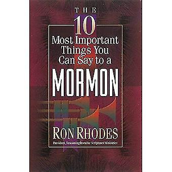 Le 10 cose più importanti che puoi dire ad un mormone (10 cose più importanti)