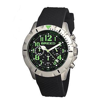 Breed Sergeant Chronograph Men's Watch w/ Date-Black/Green