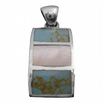 Versatile Gift Mother Of Pearls Sterling Square Pendant