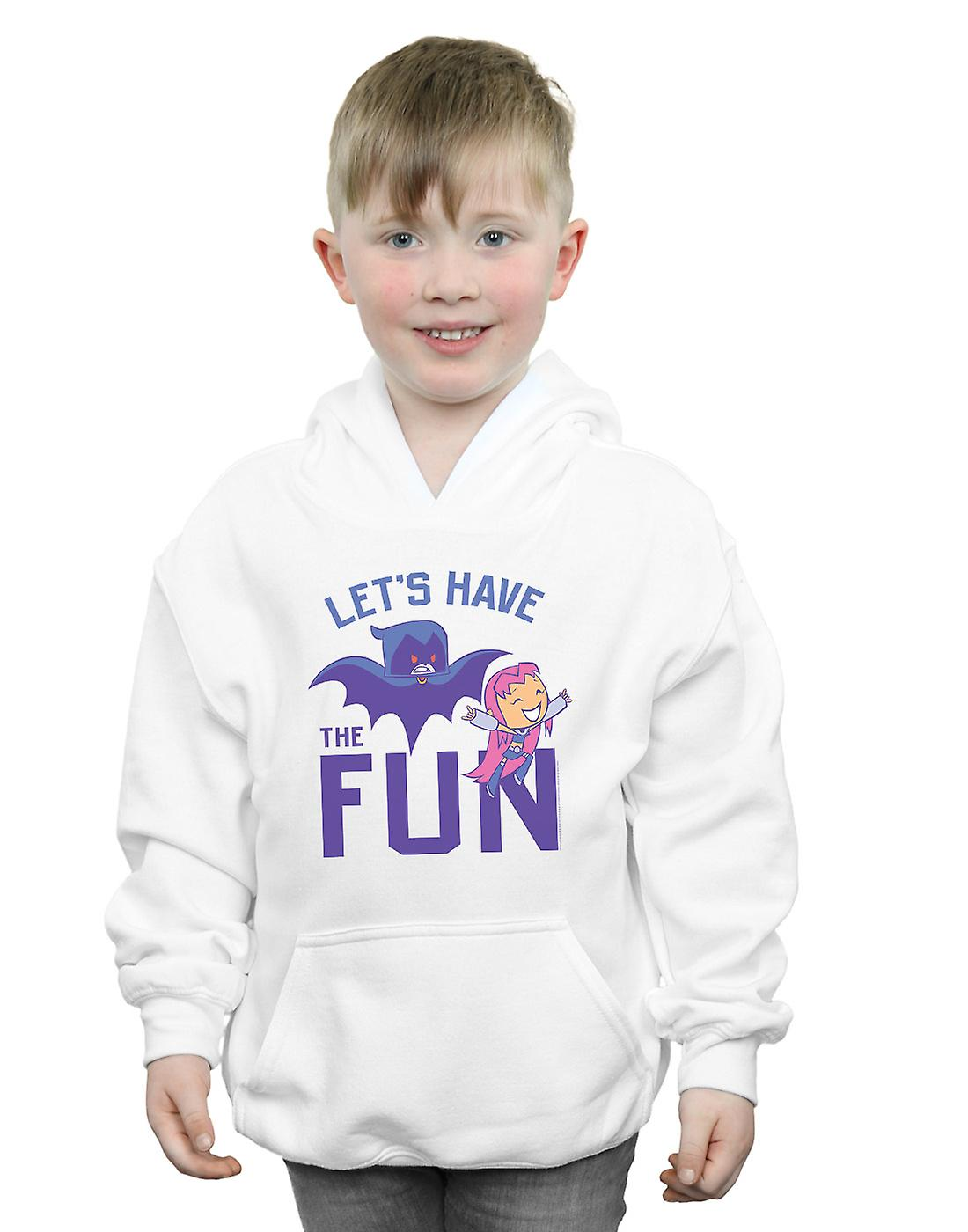 DC Comics Boys Teen Titans Go Let's Have The Fun Hoodie